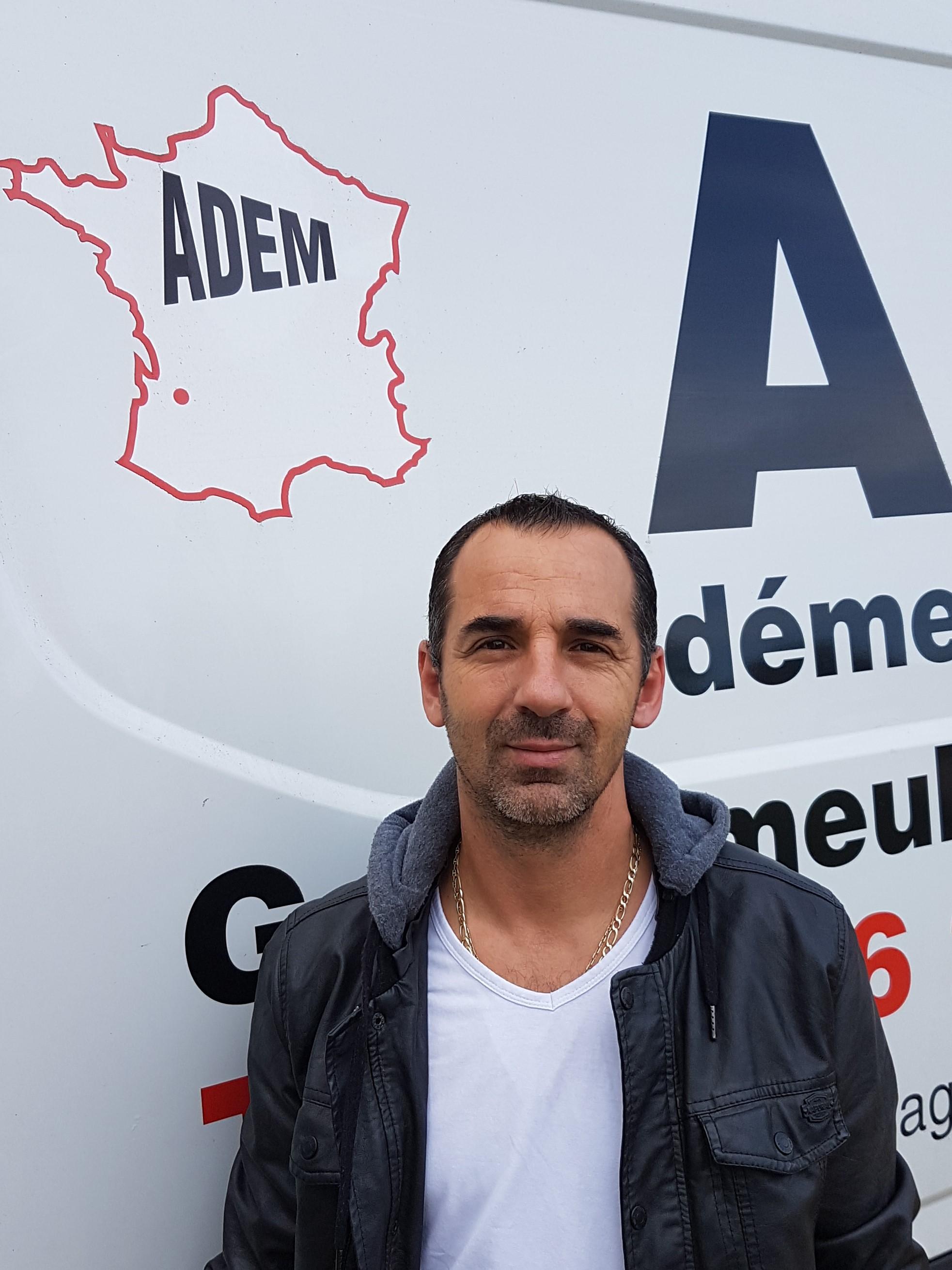 Vincent LAUGA, co-gérant déménageur de ADEM