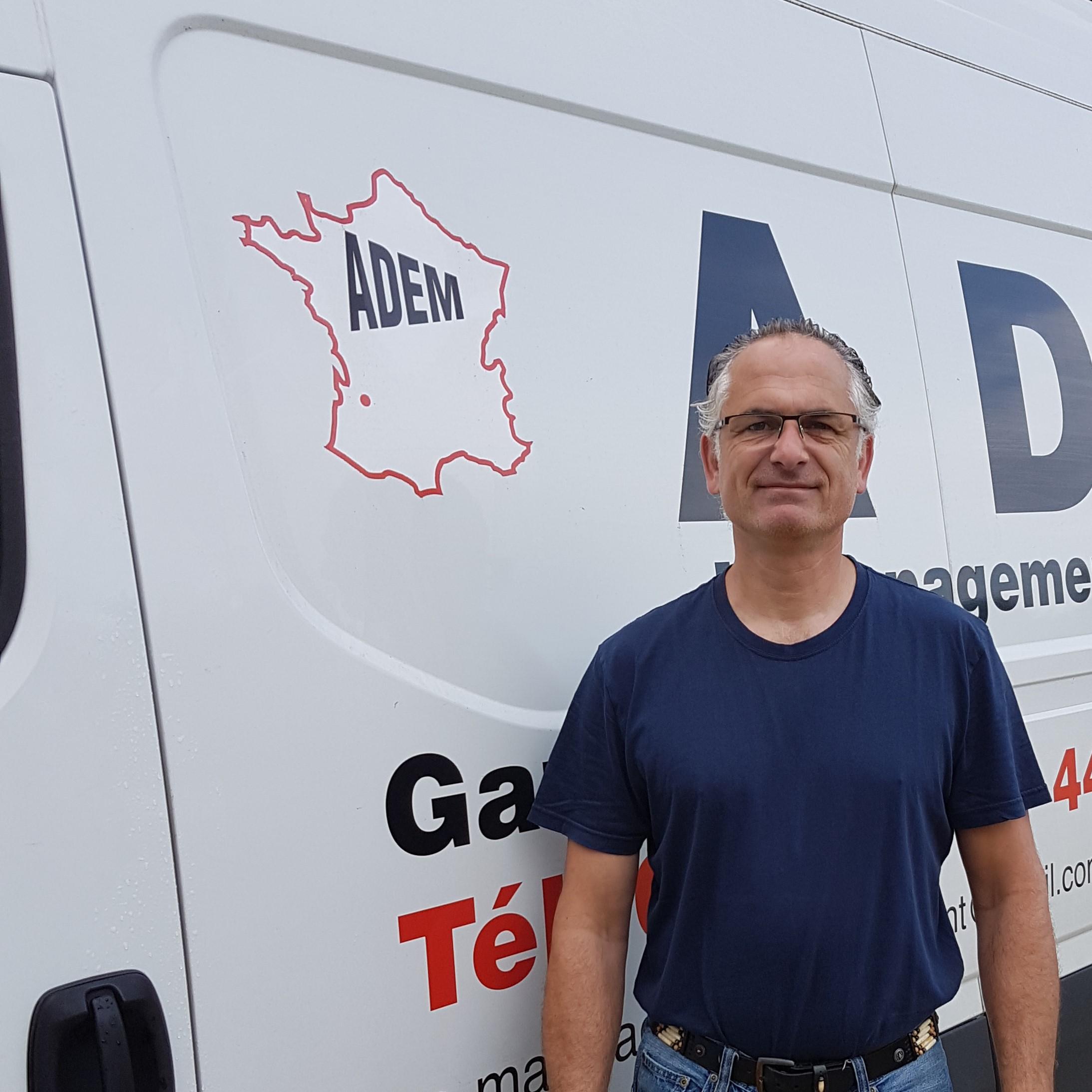 Laurent VILLOME, co-gérant déménageur de ADEM
